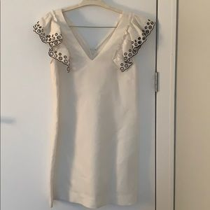 White jcrew dress